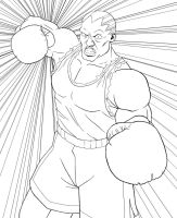 Balrog lineart by Caidengenuc