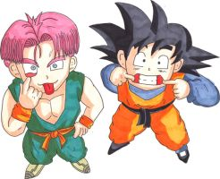 trunks and Goten by kenny-powders