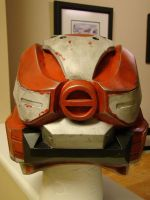 Halo 4 Spartan IV helmet Finished Back View by Hyperballistik