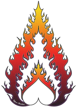 Heartfire Neon Canvas by xelopid