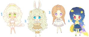 $7 Adoptables - Set 1 CLOSED by plurain