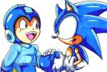 sonic welcomes megaman 2 Archie comics CL by trunks24
