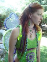 Green and Purple Faerie Wings by Faeriegem
