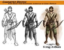Character Design- Prince Aidan from Nightshade by CarminePucci