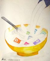 iPod Shuffle Breakfast Cereal by Chocoreaper