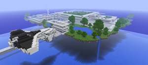 Minecraft: Floating Island by HybridAir