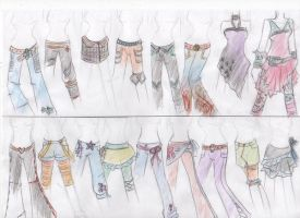 Bottom  half designs for Naki by Lady-Fayble