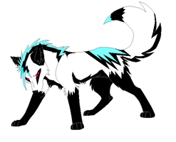 Tribal Adoptable Wolf by maikoforev5674