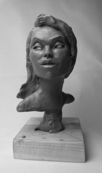 Female head study, front view by NathanLParker