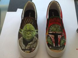 Star Wars painted shoes by NickMockoviak