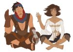 Prince of Persia - Prince and Elika Waving by Trinityinyang