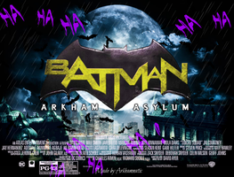 Batman Arkham Asylum movie poster by ArkhamNatic