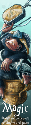 Niffler - Harry Potter bookmark by Dragowlin