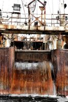 Rusting Factory Ship by basseca