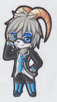 Chibi/Paperchild PC: Axel by LunaTheRenahog