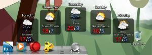 Reflective Weather-Icons by dert07