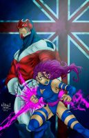 Captain Britain  Psylocke by Ta2dsoul