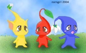 Anime Pikmin by norngirl