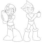 Mega Man and Astro Boy WIP by TheOmegaSpartan