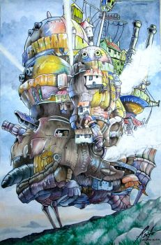 Howls moving castle.. by RaitoPeralta