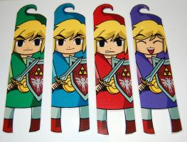 Zelda Four Swords Bookmarks by knil-maloon