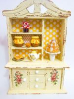 Winnie The Pooh Themed Dollhouse Hutch by tinylionminis