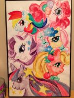 My Little Pony Watercolor by JohnWOlin