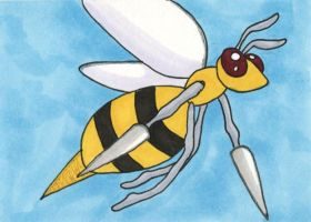 Supernova 2014 ACEO - Beedrill by bittykitty
