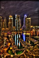 Dubai Marina Night HDR by vinayan