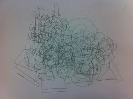 Graphics Blind Drawing by SuccubusAlice