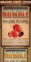Boxing Flyer Template by Hotpindesigns