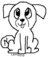 FREE Paint Friendly Pug Puppy lineart by LexiDog01