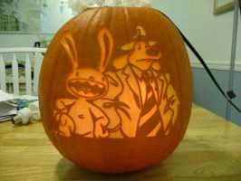 Sam and Max Pumpkin 2 by ceemdee