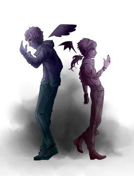 Michael and Abadon by fruitsmoothy
