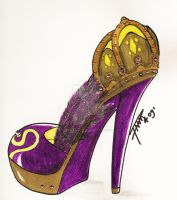 Crown High Heels by HANNA-PRETTY