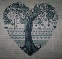 Tree-heart (Cross Stitch) by ouraion