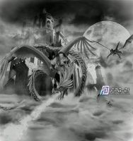 sky warrior - BW by fad-21