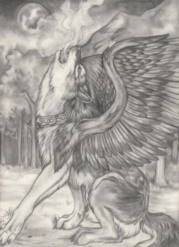 Winged dream wolf by HotRod-302