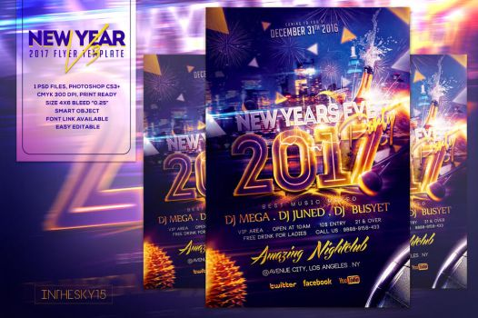 New Years Eve V3 Flyer Template by ranvx54