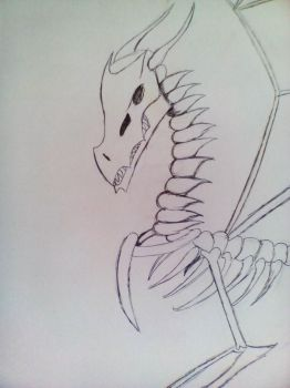 Dragon Skeleton by Invaderskull1995