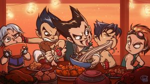 Furious Food Fight by richie-on-a-mission