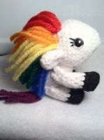 Rainbow Pony by Yarnigurumi