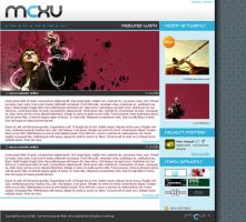 mxcu site mockup by xdreamer