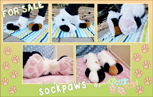 Calico Cat Sockpaws by NonStopFlop! by yiffin