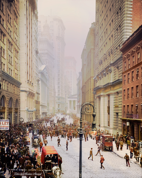 Colorization: Broad Street, New York, 1905 by marinamaral