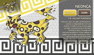 Neonca, the Jaguar Fakemon by AtmaFlare