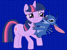 Twilight Sparkle and Stitch by Fluttershy626