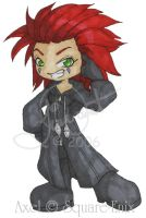 KH - Axel Org XIII Chibi by TheQueenofKawaii