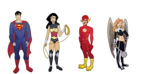 Justice League-character design by sophie93