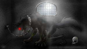 Imprisoned :2011: by MoonstalkerWerewolf